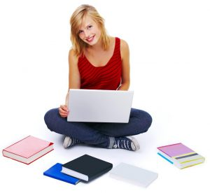 womanwithlaptopandbooks
